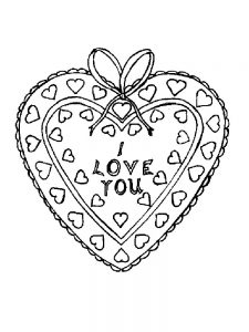 Heart Coloring Pages For Kindergarten