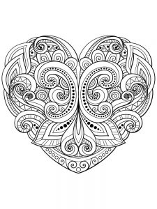 Heart Coloring Pages Online