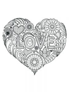 Heart Coloring Pages Valentines
