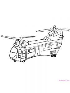 Helicopter Coloring Pages For Preschoolers