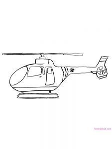Helicopter Coloring Pages Free Printable