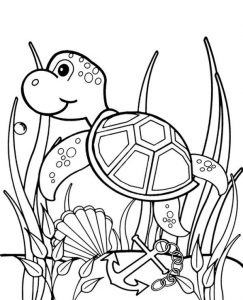 High quality Sea Turtle Coloring Page To Print For Free