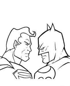 High quality Superman Vs. Batman To Color To Print For Free