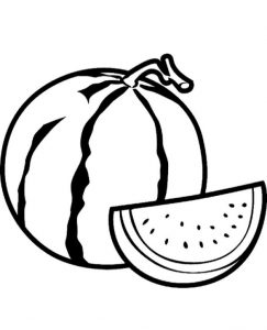 High quality Watermelon Coloring Page To Print For Free