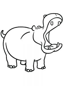 Hippo Coloring Pages Free