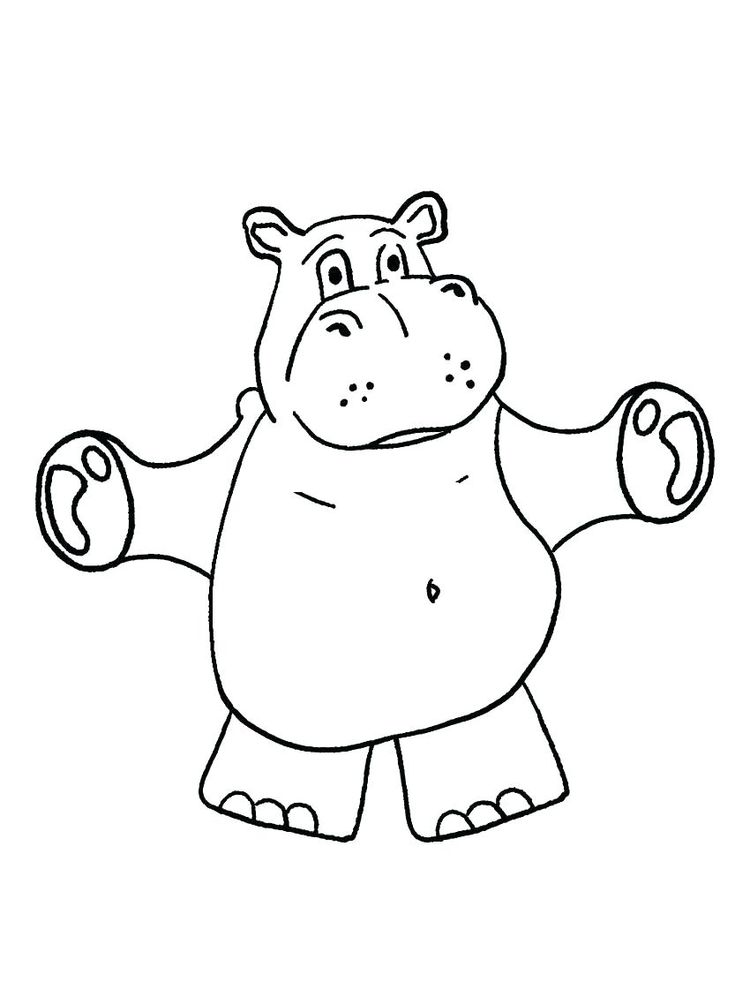 Hippo Coloring Pages Printable
