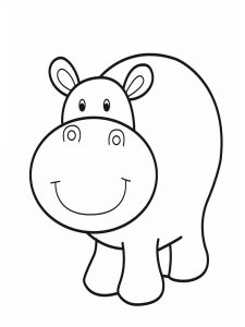 Hippo Coloring Sheets For Preschool