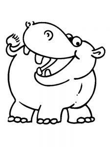 Hippopotamus Coloring Pages To Print