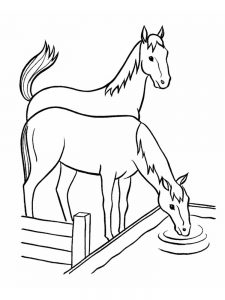 Horse Coloring Pages Barrel Racing