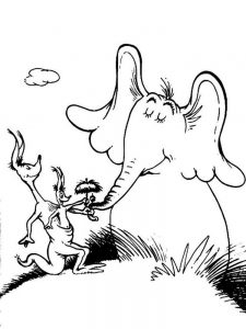 Horton Hears A Who Colouring In