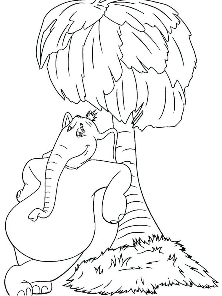 Horton Hears A Who Colouring Pages