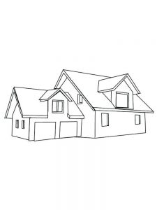 House Coloring Pages Momjunction