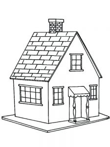 House Coloring Pages Outline