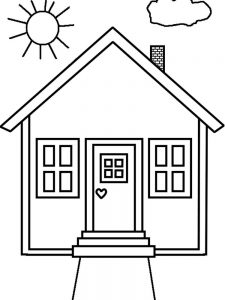 House Coloring Pages Pdf
