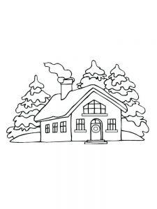 House Coloring Pages Template