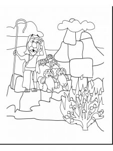 How To Draw Moses And The Burning Bush