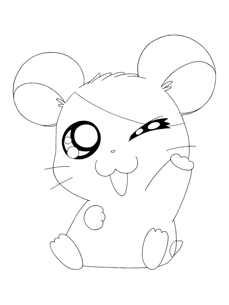 Humphrey Hamster Coloring Pages