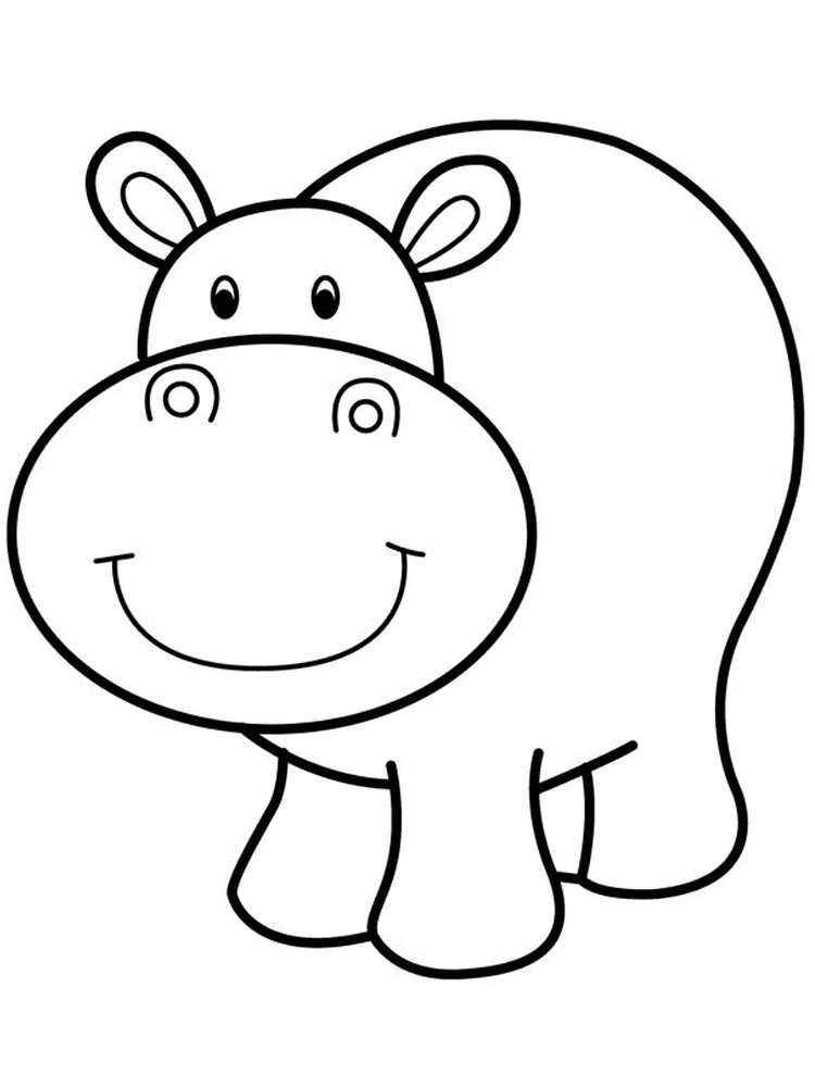 Hungry Hippo Coloring Pages