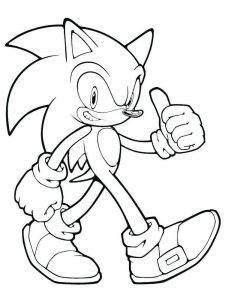 Hyper Sonic The Hedgehog Coloring Pages