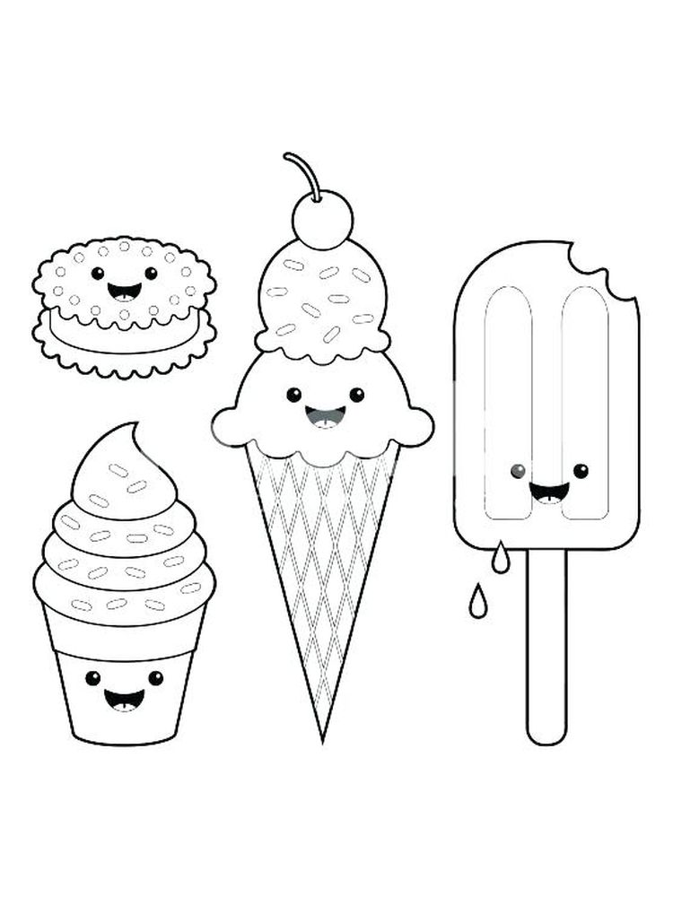 Ice Cream Coloring Pages 3 Scoops
