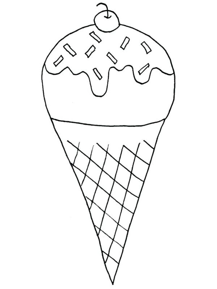 Ice Cream Coloring Pages Colored