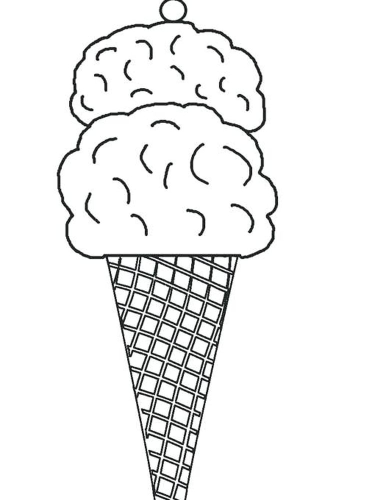 Ice Cream Coloring Pages Easy