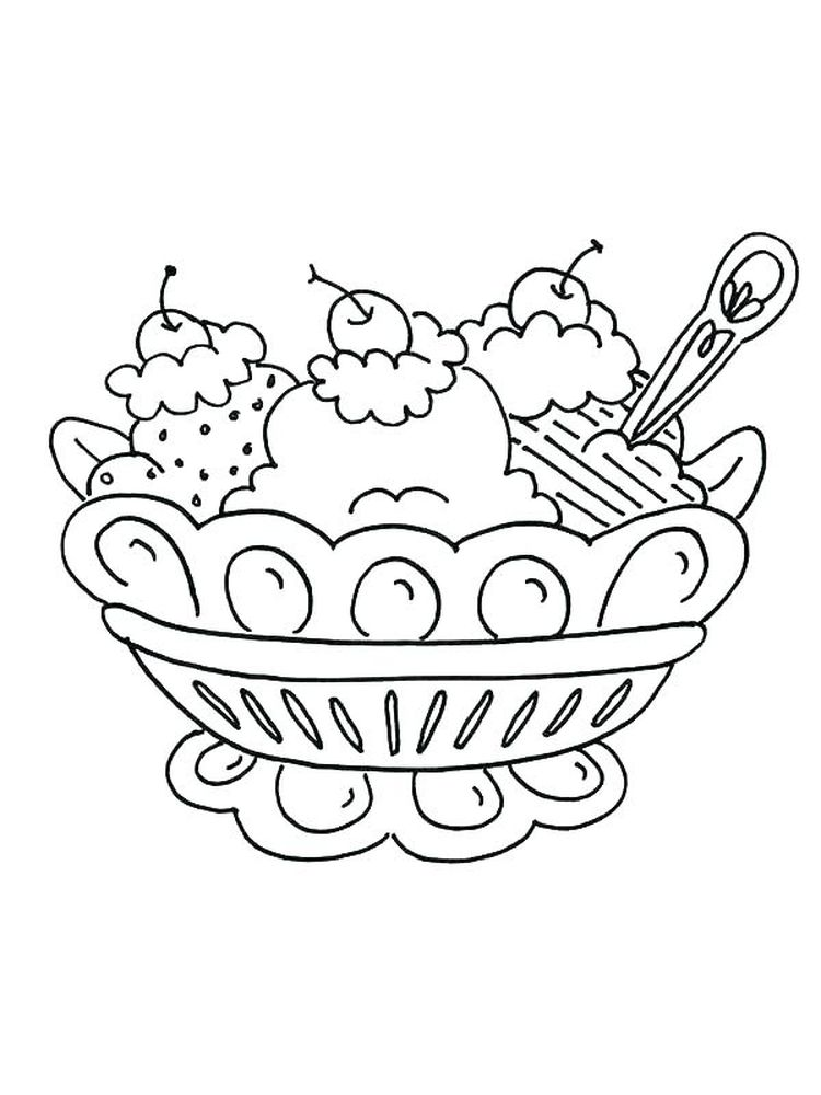 Ice Cream Coloring Pages For Toddlers