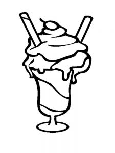 Ice Cream Coloring Pages Free Printable