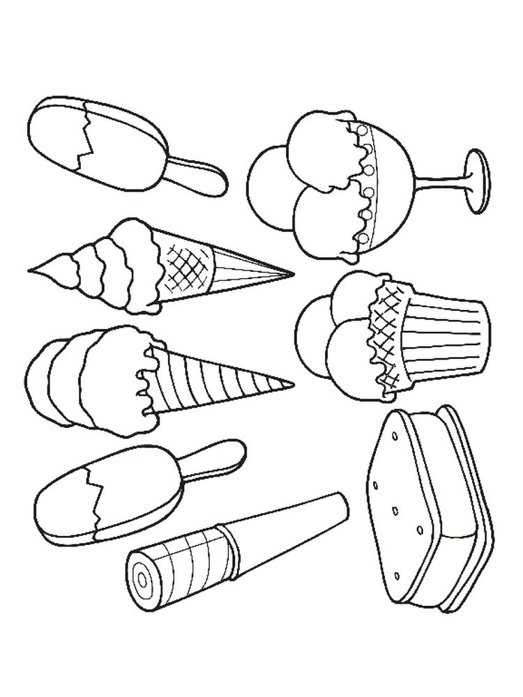 Ice Cream Coloring Pages Online