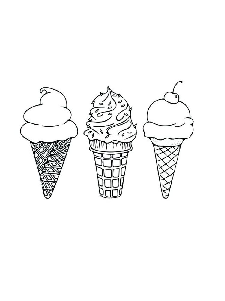Ice Cream Colouring Pages