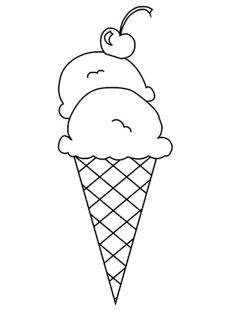 Ice Cream Shop Coloring Pages