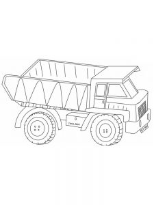 Images Of Dump Truck Coloring Pages