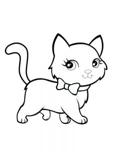 Images Of Kitten Coloring Pages