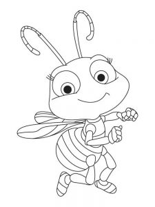 Insects In The Garden Coloring Pages