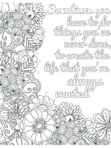 Inspirational Quote Coloring Pages For Adults
