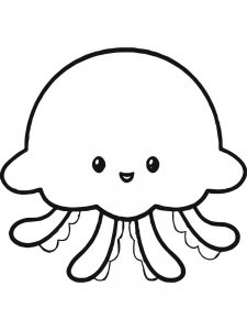 Jellyfish Coloring Pages Simple