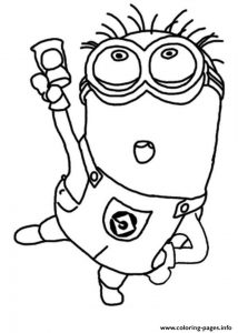 Jerry Dance The Minion Coloring Page Coloring Pages Printable