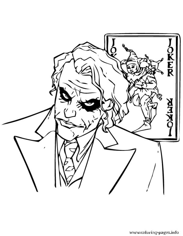 Joker From Batman Cartoon Coloring Pages Printable