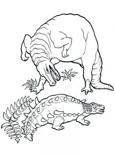 Jurassic World T Rex Coloring Pages