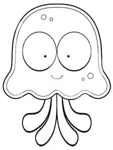 Kawaii Jellyfish Coloring Pages