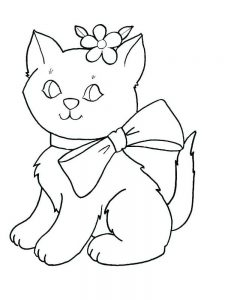 Kawaii Kitten Coloring Pages