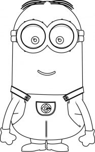 Kevin minion coloring pages for kids