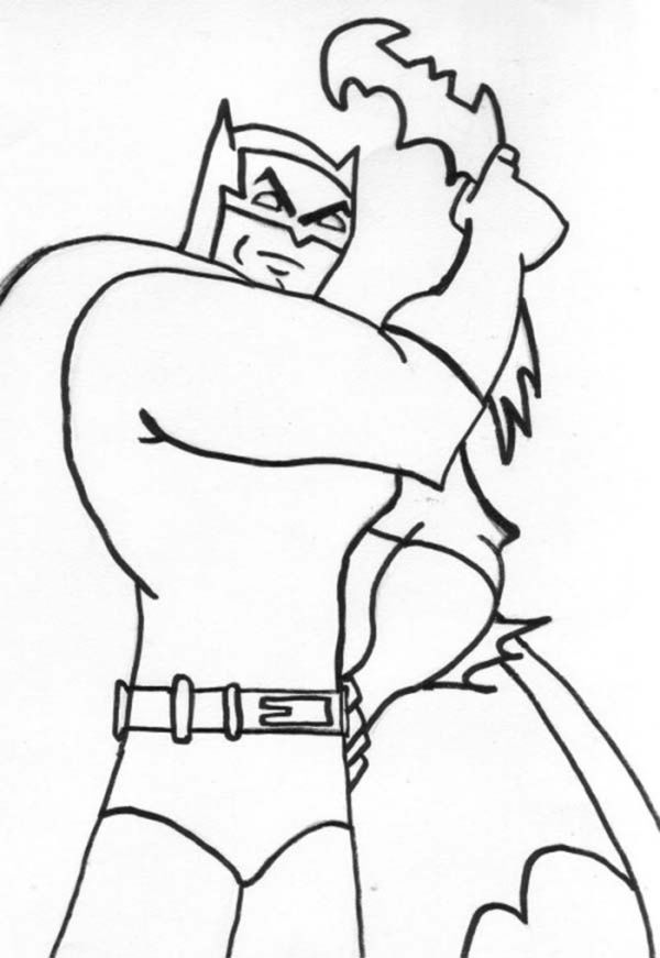 Kids Drawing Of Batman Coloring Page
