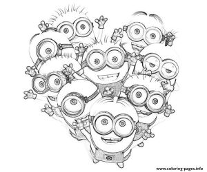 Kids Minions Despicable Me S Coloring Pages Printable