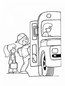 Kids back to school coloring pages