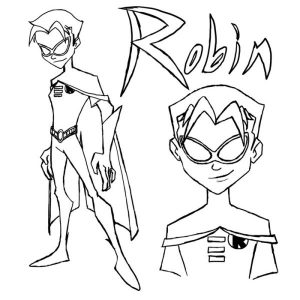 Kids robin coloring pages