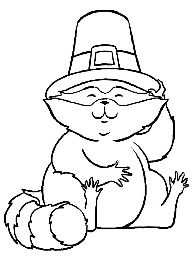 Kissing Hand Raccoon Coloring Page
