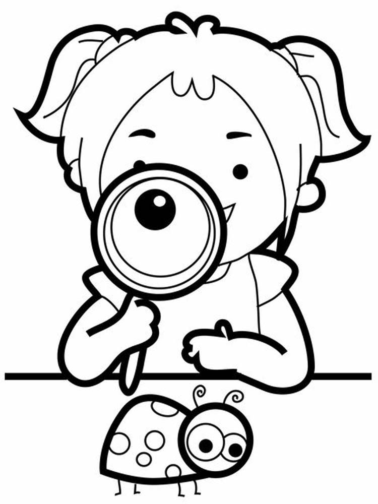 Ladybird coloring page download