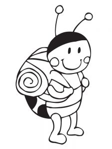 Ladybird coloring pages images
