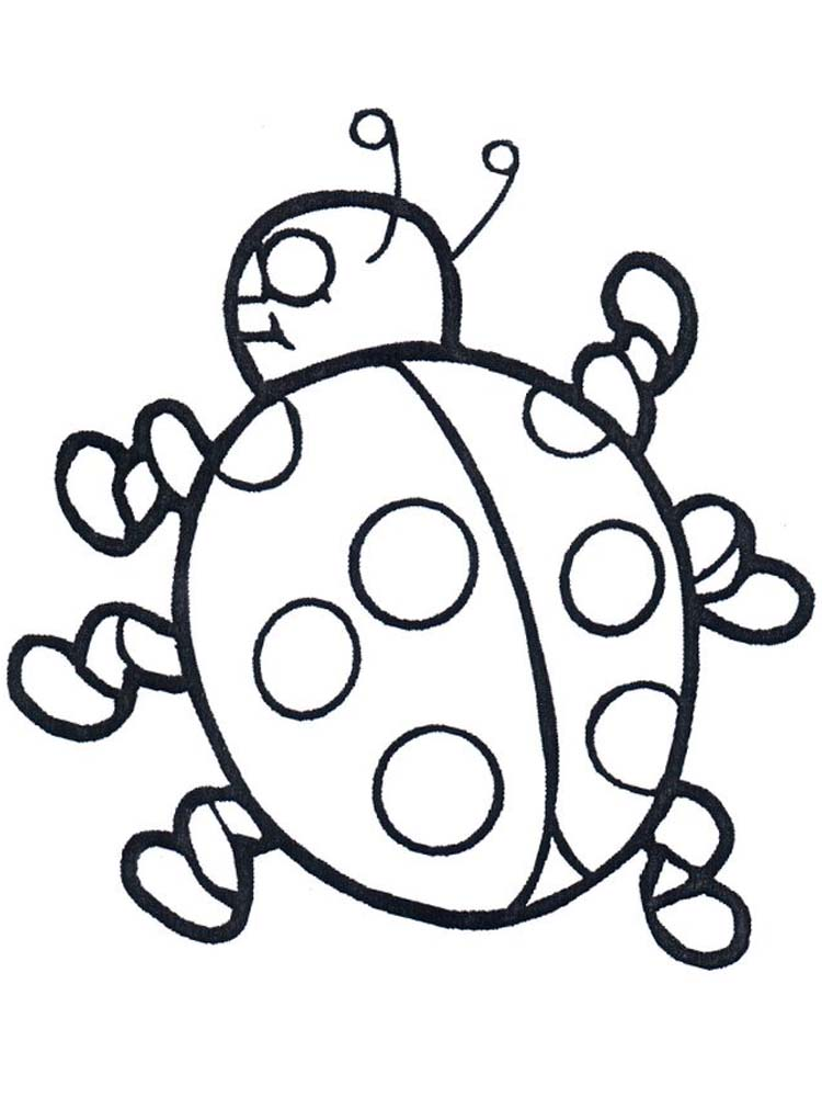 Ladybirds Colouring Pages